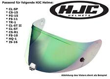 HJC visera hj09 para cascos cl-SP cs-15 fg-15 fs-11 tr-1 cl-St II verde efecto espejo