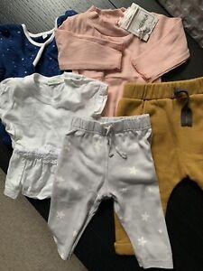 Baby Girl 3-6 Months Bundle 5 Pieces - Mori, Dulces, Truly, Benetton, Charanga