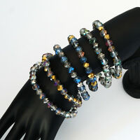 Multi color Crystal Bead Stretch Bracelet