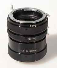 EXTENSION TUBE SET FOR NIKON, 12MM, 20MM AND 36MM W/CASE