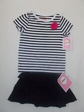 CIRCO Striped T-Shirt & Layered Ruffle Skirt Toddler Girls Size 2T- 24M NWT