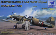 """BRONCO FB4009 Curtiss Hawk 81-A2 """"AVG"""" w/3 Figures Special Edition in 1:48"""
