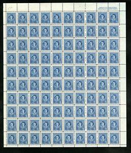 CANADA SHEET - Scott 276 - NH - UR Plate 1 - 4¢ Blue Princess Elizabeth (.018)