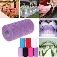 25 Yards 6'' Home Floral Lace Roll Table Runner Chair Sash Wedding Party Decor