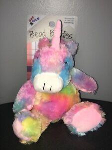 NEW!  UNICORN Aromatherapy Hot & Cold Plush Cozy Animal Hugs Bead Buddies 0603A