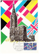 CARTE MAXIMUM FDC 1979 TIMBRE N° 2050 ELECTION ASSEMBLEE COMMUNAUTES EUROPEENNES