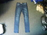 "Papaya Skinny Jeans Size 10 Leg 31"" Faded Dark Blue Ladies Jeans"