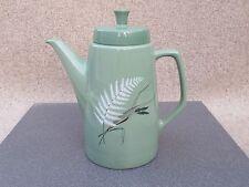 Figgjo Flint Norway Genuine Coffee Pot Pale Green Fern and Wheat Design