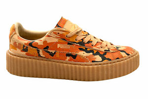 Puma Fenty by Rihanna Leather Creepers Sneakers Trainers Orange Size AU 7.5