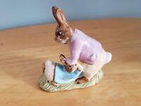 Beatrix Potter's Mr. Benjamin Bunny & Peter Rabbit Figurine Beswick England 1975