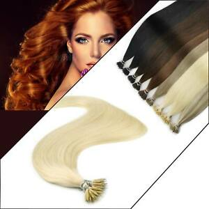 1G Nano Ring Tip Human Hair Extensions Elegant Fashionable Multi Sizes Elegant