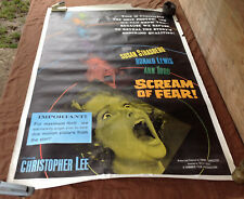 1961 Scream Of Fear Original Movie House Large Full Sheet Poster