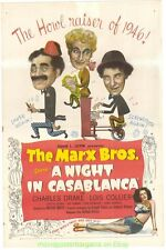 A NIGHT IN CASABLANCA MOVIE POSTER 11x17 With Holder THE MARX BROTHERS 1946