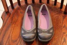 TEVA Ballerina Grey Slip-On Women's Flats Shoes w/ Lavender Interior ~ Size 8