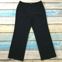 "Croft & Barrow Womens Pants sz 14 Short Black Straight x30"" Stretch Career Dress"
