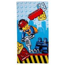 Serviettes, draps et gants de salle de bain bleu coton Lego