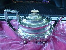Fine Michael Starkey English William Iv Sterling Silver Teapot