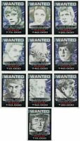 2014 Topps Chrome Star Wars Perspectives Rebel Wanted Poster Insert Set 1-10