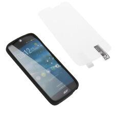 Custodia + PELLICOLA per Acer Liquid Jade Z Custodia Cellulare Guscio Protettivo in TPU Gomma Nero