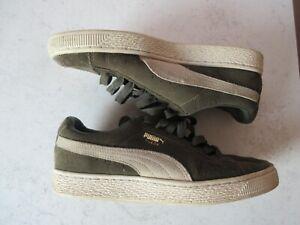 chaussures puma suede gris et blanc taille 39.