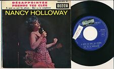 """NANCY HOLLOWAY 45 TOURS EP 7"""" FRANCE DESAPOINTEE"""