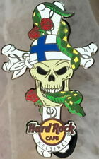 Hard Rock Cafe HELSINKI 2013 Skull on Cross with Roses PIN LE 200 - HRC #73271
