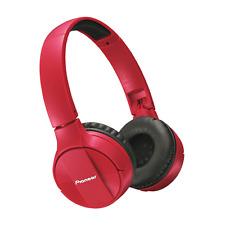 Pioneer SE-MJ553BT in Red - Bluetooth Headphones with built in Mic