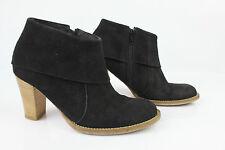 Bottines Boots MINELLI Tout Cuir Daim Noir T 36 TBE