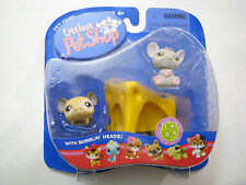 LPS Littlest Pet Shop #115 #116 Mouse Rat Cheese Hasbro 2005 Collectible NEW NIP