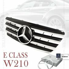 Gloss Black Front Mesh Grille Sport AMG for Mercedes Benz E Class W210 2000-02