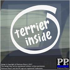 1 x Terrier all'interno-Finestra, Auto, Furgone, STICKER, SEGNO, Adesivo, Cane, Pet, sul confine, bordo,