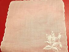 12 White Embroidered Organdy Cocktail Napkins +12 Drink Coasters NWOT