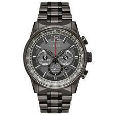 Citizen Eco-Drive Men's Chronograph Nighthawk Stainless Steel Bracelet Watch