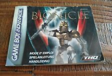 NOTICE MANUEL BIONICLE GAME BOY GAMEBOY ADVANCE GBA (EUU)