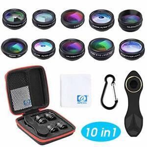 Objectif Pour Smartphone 10en1 Téléphone Caméra Lentille Grand Angle Macro