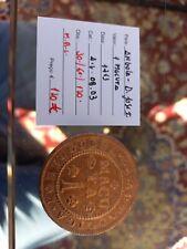 portuguese angola 1 macuta 1763 D.Jose I - excelent big coin