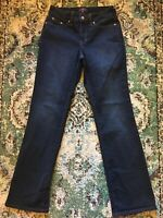 22I👖NYDJ Womens Sz 4 Jeans Bootcut Lift Tuck Dark Wash Not Your Daughters