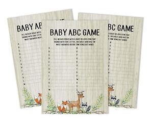 Inkdotpot Jungle Animals Baby Shower Game Set Of 50-8ra
