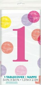 Plastic Disposable Table Cloth Cover Rectangle Covers Wipe Clean Birthday Party