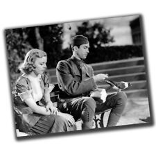 Margaret Sullavan and Jimmy Stewart Retro Rare Photo Glossy Big Size 8X10in ε066