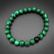 Fashion 8mm Natural Stone Malachite Beads Yoga Reiki Bracelets Valentines Gifts