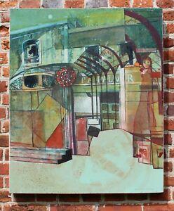 1960s Pop Art Abstract Painting On Board Mid Century Modern British Art