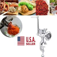 Sausage Filler Maker Machine Table Hand Crank Manual Meat Grinder Stuffer Mincer