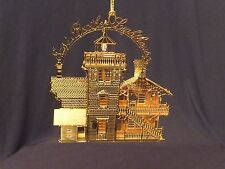 """3D Brass East Brother Lighthouse Christmas Ornament (3.5"""" by 3.25"""" by .25"""")"""
