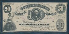 Csa #T-8 $50 1861 Washington Note (Choice Au) Bu7026
