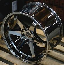 (4)ESR SR07 BLACK CHROME 18X8.5 5X114.3 WHEELS ACCORD CIVIC CAMRY TSX RSX TL MR2