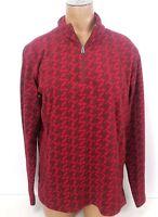 Columbia Fleece Half Zip Pullover Jacket Houndstooth Womens Sz Medium M