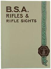 B.S.A. Rifles & Rifle Sights Birmingham Small Arms Original Catalog Reprint NEW