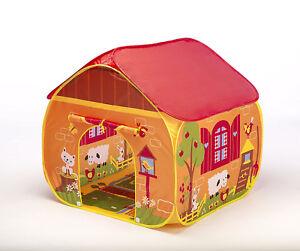Childrens Fun Game Tent Farm House PlayHouse Animals Design Pop Up Kids Activity