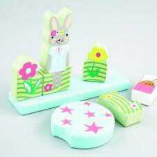 Floss & Rock Toddlers Bunny Rabbit Easy Wooden 7 Piece Magnetic Puzzle